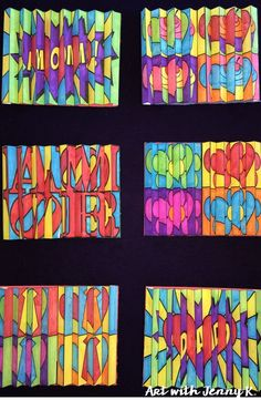 Arte cinética Agamograph designs for Mother's Day, Father's Day and Valentine's Day. These contemporary art activities are something that won't soon be forgotten--by kids, parents, or teachers! Super fun and super easy. Father's Day Activities, Valentines Day Activities, Valentine Day Crafts, Cool Art Projects, Projects For Kids, Classe D'art, Valentines Design, Ecole Art, Fathers Day Crafts