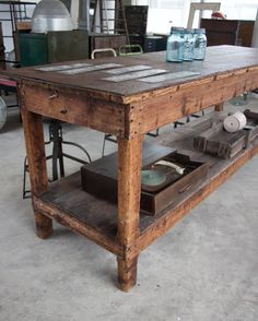 Bohemian Furniture, Wooden Furniture, Home Furniture, Butcher Block Tables, Vintage Interiors, Kitchen Collection, Home Decor Inspiration, Kitchen Inspiration, Wooden Tables