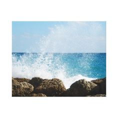 Ocean Waves Crashing on Rocks. I could use some warm ocean after this Winter! #home #tropical #vacation