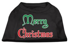 Merry Christmas Screen Print Shirt Black XXXL (20)