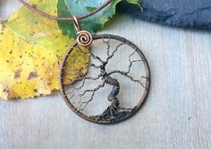 Copper Tree of Life Pendant Yggdrasil Pendant by AdornWireStudio Pin to save or click to buy. Tree Of Life Jewelry, Tree Of Life Pendant, Wire Jewellery, Jewelry Art, Handmade Shop, Handmade Items, Child Of The Universe, Unique Trees, Wire Art
