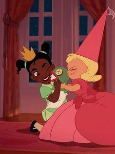 Princess and the Frog (2009) - Tiana + Charlotte