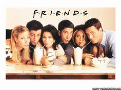 Friends tv show - fave group photo of them... next to the rolling stone cover.