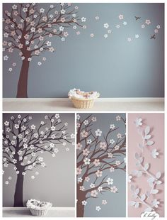 If ever I have a kid, she's getting cherry blossoms on her wall!