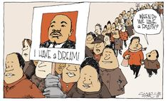 unironic favorite mlk day cartoon this year by signe wilkinson, dang