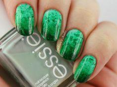 Green Salted Watercolor Nails - Spektors Nails