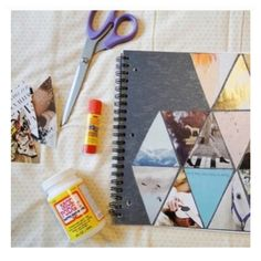 All you need is a notebook,modge podge, and magazine pieces!