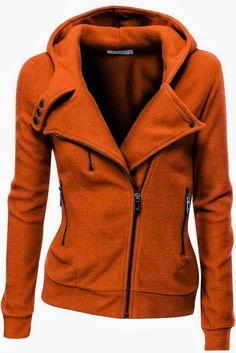 Zipper Hood Moto Jacket ~ Fashion Frenzy
