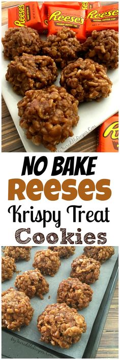 original_title] – Camelia Recipes No Bake Reeses Krispy Cookies! No Bake Reeses Krispy Cookies! Candy Recipes, Baking Recipes, Sweet Recipes, Cookie Recipes, Reese's Recipes, Recipies, Snack Recipes, Dessert Recipes, Creasant Roll Recipes