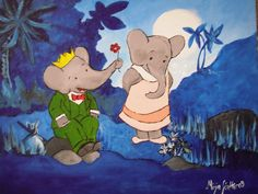 Babar the Elephant...I was really in love with the books as a child, they had a softness and sensitivity to the illustration that I loved...i was drawn to the soft watercolors. Babar the Movie was also a favorite...of course because of the music! :)    http://www.youtube.com/watch?v=e-97cJmXR3E    http://www.youtube.com/watch?v=7FE0qqKnKkc