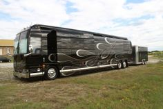 Outside view of Casey Donahew's swanky motor home. See MORE celeb motor homes here>> http://www.greatamericancountry.com/shows/celebrity-motor-homes/top-25-celebrity-motor-homes--pictures?soc=pinterest