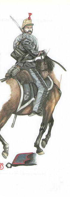 Regg. Guide: Sergente in tenuta da campagna 1859 Dettaglio del colletto 1859