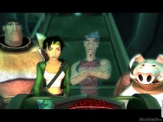 Beyond Good and Evil ~ Double H, Jade, Secundo and Pey'j Beyond Good And Evil, Video Game Art, What Is Life About, Cyberpunk, Ipod, Videogames, Fairy Tales, Jade, Gaming