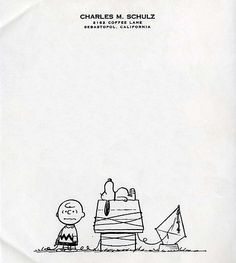Legendary Peanuts creator Charles Schulz had a series of beautiful letterheads over the years.