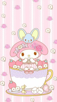 My Melody Wallpaper, Sanrio Wallpaper, Cute Pokemon Wallpaper, Soft Wallpaper, Hello Kitty Wallpaper, Kawaii Wallpaper, Hello Kitty Art, Hello Kitty Images, Sanrio Characters