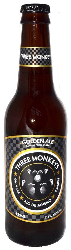 Three Monkeys Golden Ale 355ml