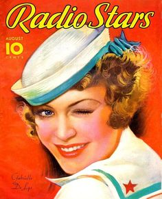 """Art from: Radio Stars Gabrielle De Lys. """"Three Women and Max Baer,"""" the adventures that led him to a place in the radio sun! Artist: Earl Christy Source: Al Girard Restoration by: Al Girard Star Magazine, Movie Magazine, Magazine Art, Magazine Covers, Old Magazines, Vintage Magazines, Vintage Comics, Vintage Art, Vintage Images"""