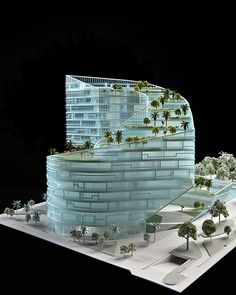 Clear office design models.