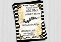 Bridal Shower Invitation , Vintage Elegant, Romantic, Lily of the valley invitation,  Antique Bridal Shower by BvStudio on Etsy
