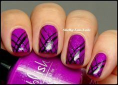 Pahlish Sarey's Berry and MoYou London--I need to work on my straight-line images :-/