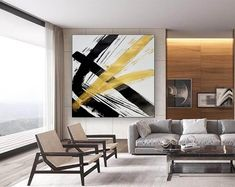 Abstract Art-Original PaintingContemporary ArtDine Room Wall image 4 Large Canvas Art, Abstract Canvas Art, Kids Room Paint, Extra Large Wall Art, Office Wall Art, Custom Art, Contemporary Paintings, The Originals, Bedroom Paintings