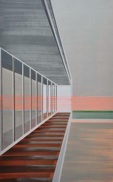 """Saatchi Art Artist Cécile van Hanja; Painting, """"Balcony"""" #art"""