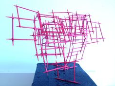 Linear sculpture piece for my primary and high school classes.