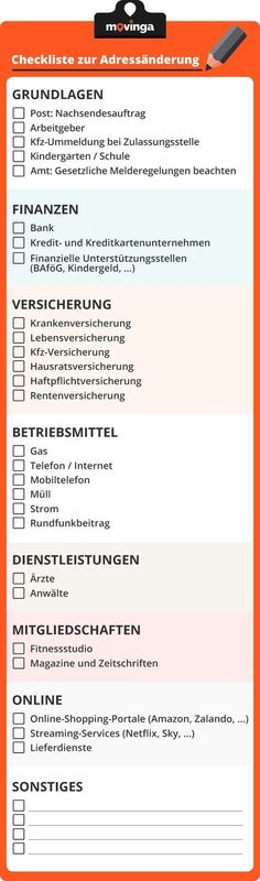 Your checklist for changing your address when moving – argon-toptrendspi… – Finanzen Change Your Address, Check Up, First Flat, Home Organisation, Moving Tips, Moving Checklist, First Apartment, Moving House, First Home
