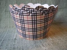 Burberry Inspired Cupcake Wrappers. $5.50, via Etsy.