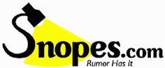 Snopes.com rumors evaluated