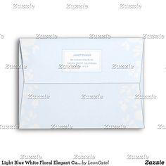 Shop Light Blue White Floral Elegant Custom Address Envelope created by LeonOziel. Envelope Sizes, Addressing Envelopes, Personalized Stationery, Thank You Cards, Colorful Backgrounds, Light Blue, Greeting Cards, Blue And White, Elegant
