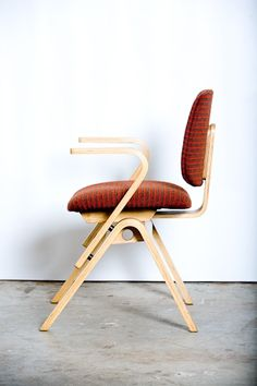 Joe Adkinson; Bent Plywood Armchair for Thonet, 1953.