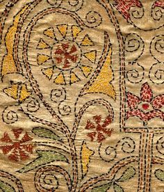 Kantha embroidery.