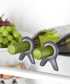 Quirky Black Vine - Set of 2. keeps wine from rolling around in the fridge