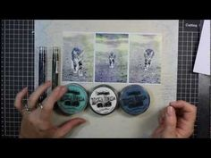 Creative Background Tutorial - Patchwork Stamping.  by Michelle Grant