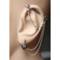 Arrow, Industrial Barbell, Industrial piercing, Jewelry, Industrial... ❤ liked on Polyvore featuring jewelry, heart jewelry, heart jewellery, hematite jewelry, heart-shaped jewelry and chains jewelry