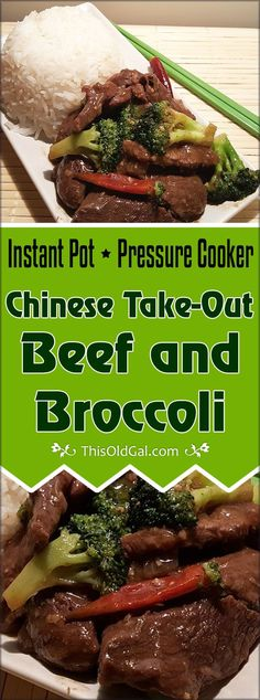 This Pressure Cooker Chinese Take-Out Beef and Broccoli is easy on your wallet.  Cooking the rice at the same time and in the same pot, makes this Beef and Broccoli a One Pot Meal! via @thisoldgalcooks