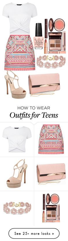 """""""Untitled #543"""" by aya-omar on Polyvore featuring Accessorize, New Look, Casadei, BaubleBar, Charlotte Tilbury and OPI"""