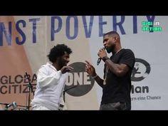 Usher beatboxing @ United against Poverty @ Königsplatz Munich - YouTube