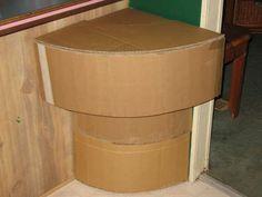 Cardboard Mario Tunnel/Pipe Corner Table