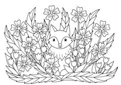 Coloring Pages of Flowers — Happies Abstract Coloring Pages, Detailed Coloring Pages, Flower Coloring Pages, Free Coloring Pages, Coloring Books, Wonderful Flowers, Flowers For You, Iris Flowers, Summer Flowers