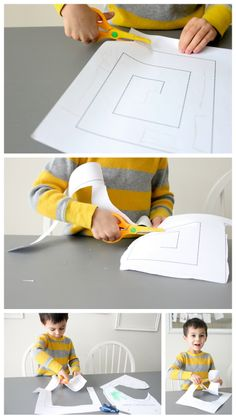 Scissor Adventures + free printables  // delia creates