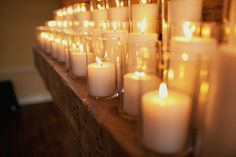 Candles, Candles, Candles - Nothing says romance like candles!  Event Coordination by eventswithpanache..., Photography by jodimillerphotogr...