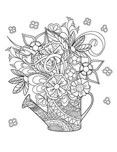 Color Your Own Great Flower Prints Dover Art Coloring Book Charlene Tarbox 9780486415536 Amazon Books
