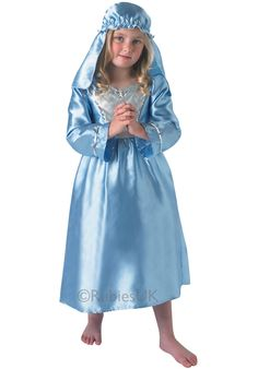 Nativity Mary Costume for Kids - Childrens Christmas Costumes at Escapade Mary Costume, Costume Dress, Powder Blue Dress, Childrens Fancy Dress, Childrens Christmas, Kids Christmas, Costumes For Sale, Fancy Dress Outfits, Christmas Costumes