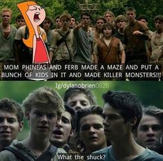 Hahahaha, funny cause Thomas-Brodie Sangster voice acted Ferb