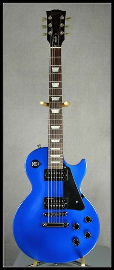 Blue Les Paul Studio; even though I don't play guitar, I really want this, it's so pretty