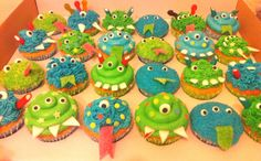 Monster cupcakes for boys...