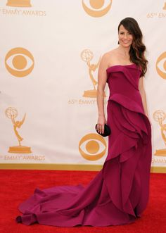 See All the Ladies From the Emmys Red Carpet: Mad Men's Christina Hendricks struck a pose on the red carpet. : Linda Cardellini on the red carpet at the 2013 Emmy Awards.
