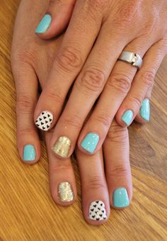 So Cute! Hearts, Glitter and Aqua! ManiMondays: July Make-up post (of a million manicures)